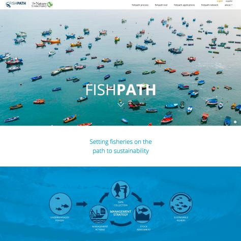 Top of fishpath.org front page